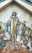 Fig. 18 – Carnessali, Sacro Cuore, Timpano sopra il portale di ingresso, Sacro Cuore, Trento
